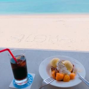 沖縄のオーシャンビューカフェ